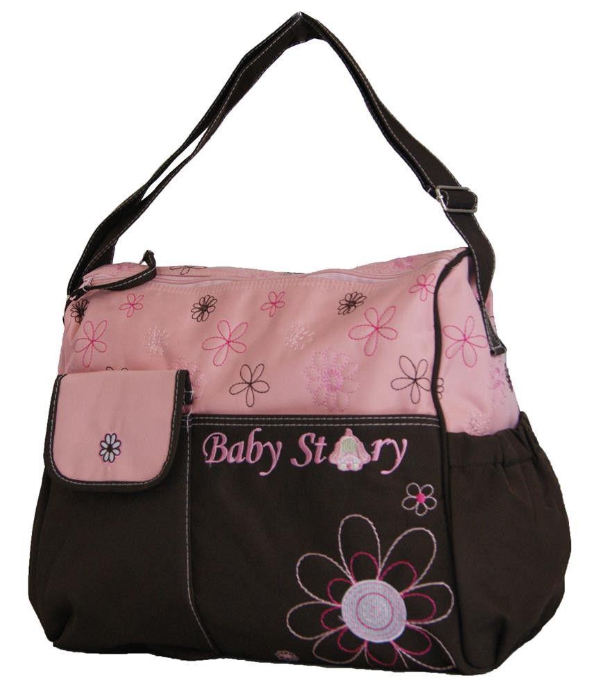 fino baby diaper shoulder bag organizer bs 13609 pink brown buy onl. Black Bedroom Furniture Sets. Home Design Ideas