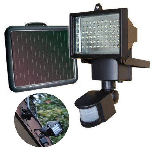 Outdoor Lights Cape Town: Bright White 60 Led Pir Motion Sensor Solar Power Security