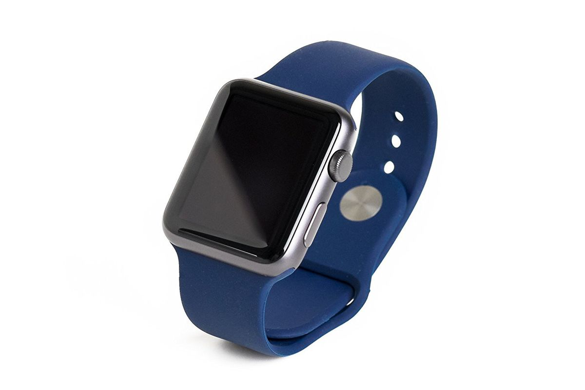 Silicone Sports 42mm Band For Apple Watch - Navy Blue