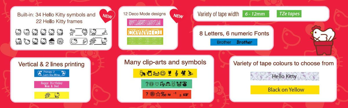 brother p touch d200 hello kitty label printer buy online in south