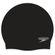Speedo Plain Flat Silicone Cap - Black