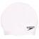 Speedo Plain Flat Silicone Cap - White