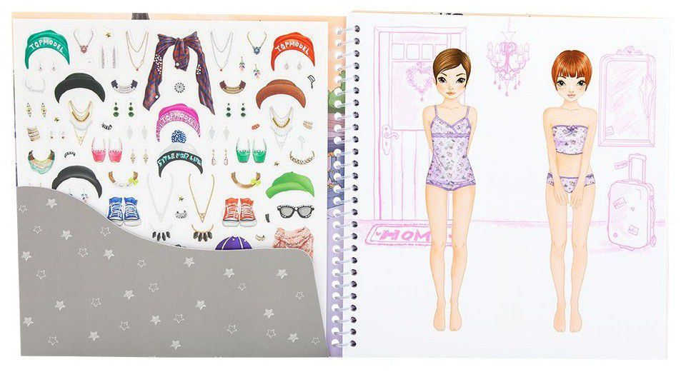 Top Model Dress Me Up Sticker Book Buy Online In South Africa