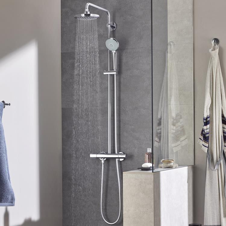 grohe euphoria system 18cm shower system with thermostat