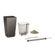 Lechuza - Maxi Cubi Table Planters - Charcoal Metallic