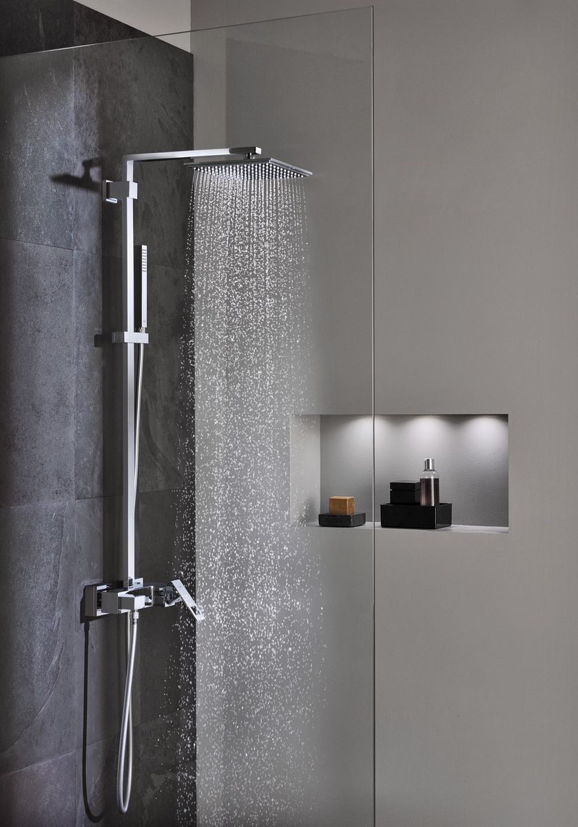 grohe euphoria cube 230 shower system 2 x extra large. Black Bedroom Furniture Sets. Home Design Ideas