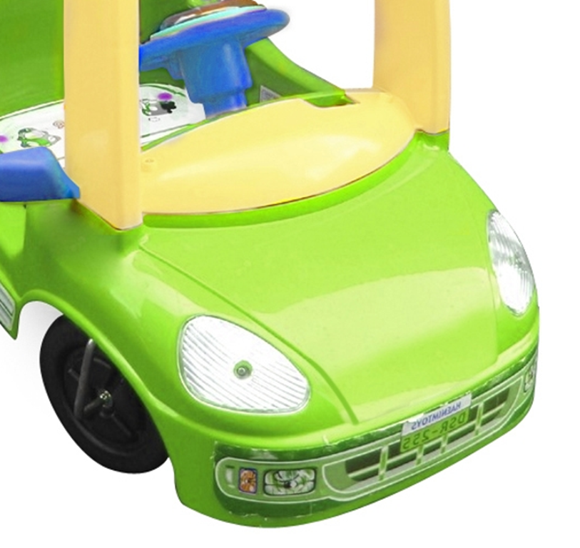 parent controlled kids push car fun buggy in green