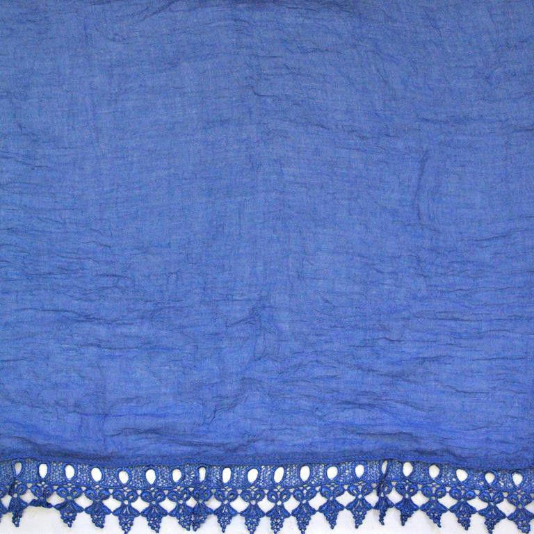 Lily Rose Blue Crochet Pattern Edge Scarf Tls133 Buy Online In