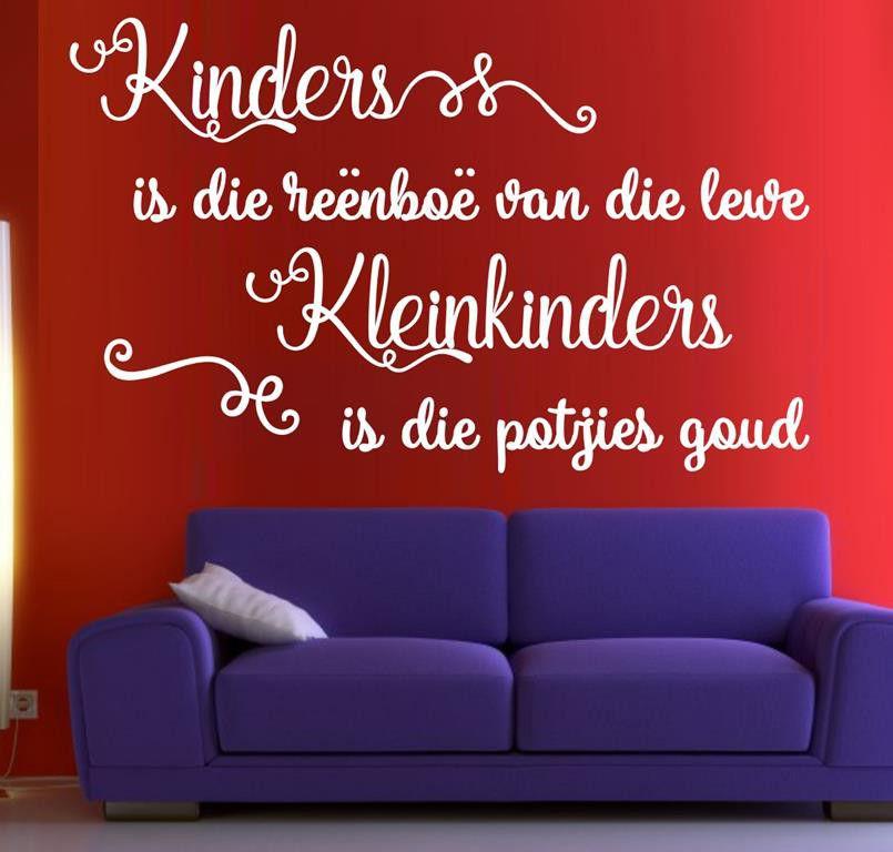 ... Vinyl Lady Decals Kinders Is Die Reenboe Van Die Lewe Afrikaans Quote Wall  Art Sticker ...