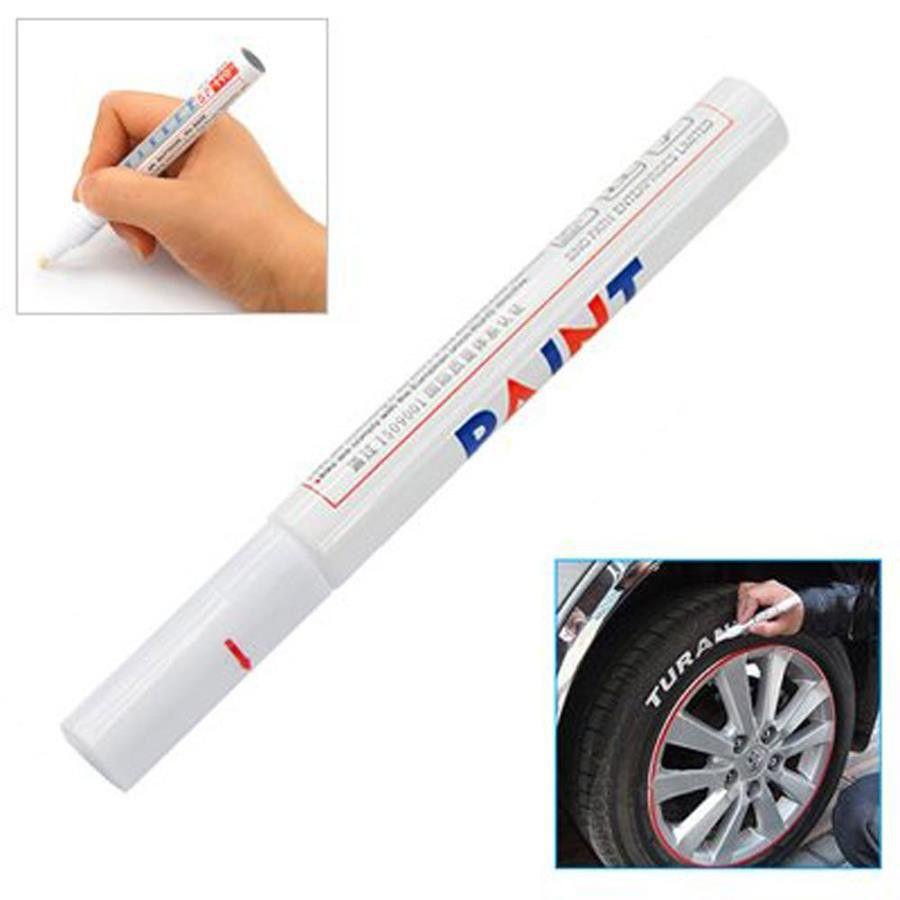 Car Tyre Metal Paint Pen Marker White Buy Online In