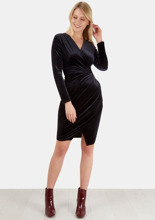Closet London - Long Sleeve Velvet Dress | Buy Online in South ...