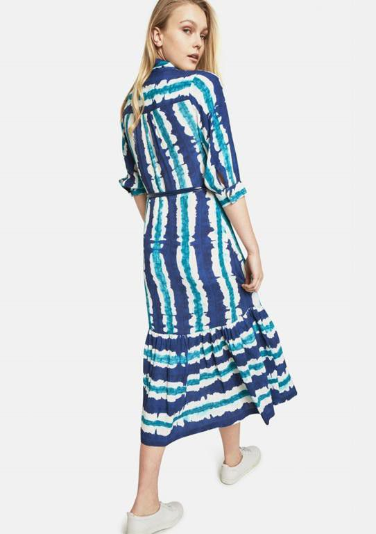 ... Closet London   Printed Midi Dress With Long Pussy Bow ...