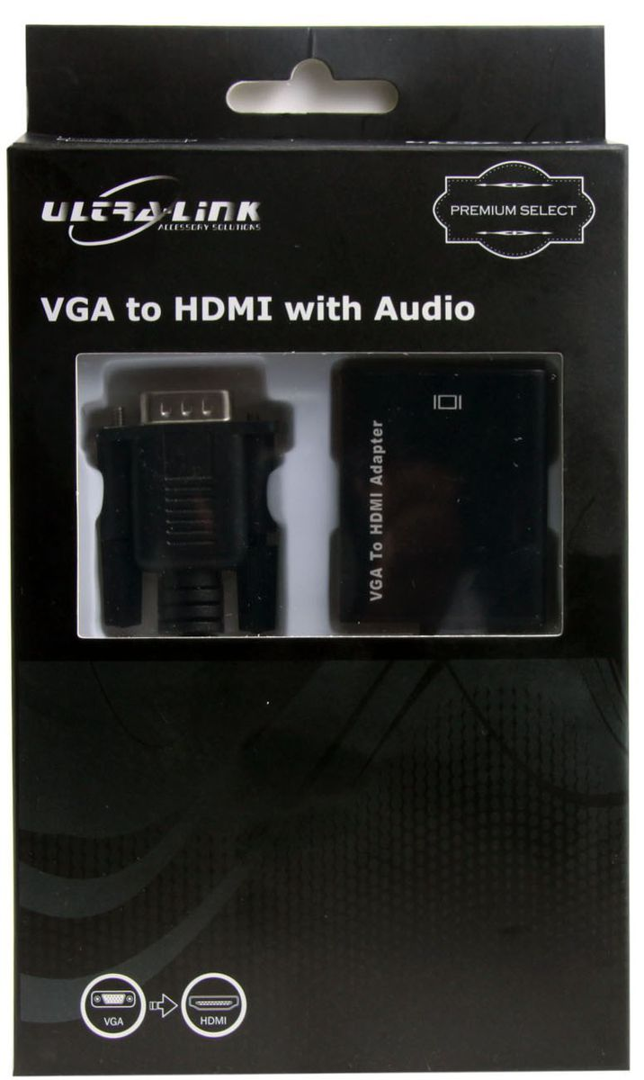 Ultra Link Premium Vga To Hdmi With Audio Conversion Cable