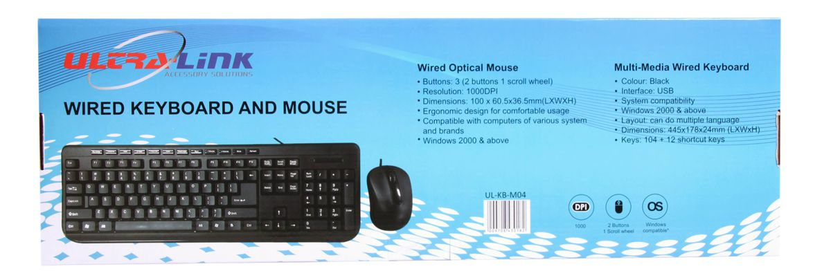 Ultra Link Wired Keyboard And Mouse Combo - Black | Buy Online in ...
