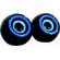 Ultra Link Premium Usb Powered 2.0 Ch Speakers - Blue & Black