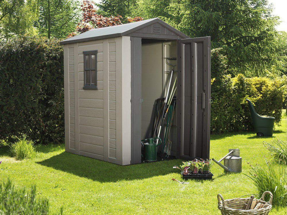Keter Factor 4 X 6 Garden Shed Beige Buy Online In