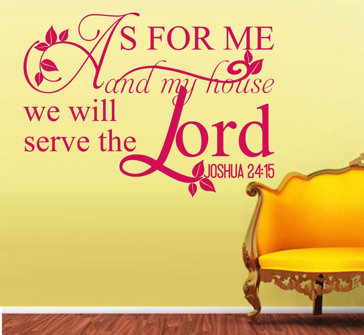 Vinyl Lady Decals Josh 24:15 As For Me And My House We Will Serve ...