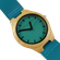 WoodZee Wooden Bamboo Watch with Leather Strap - Blue