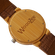 WoodZee Wood Chip Bamboo Watch with Leather Strap