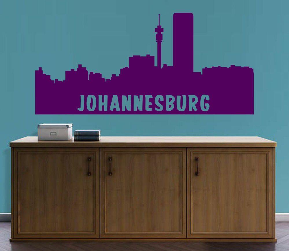 Vinyl Lady Decals Johannesburg Skyline Cityscape Wall Art Sticker - Wall decals johannesburg