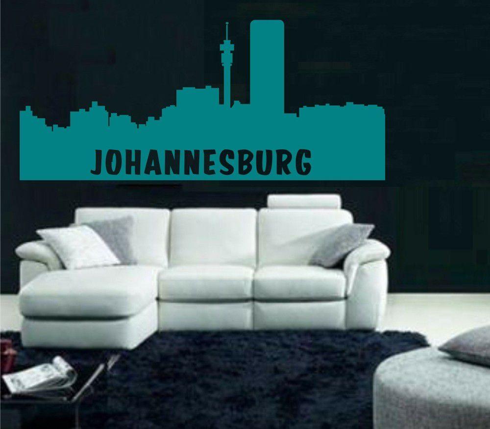 Vinyl Lady Decals Johannesburg Skyline Cityscape Wall Art Sticker
