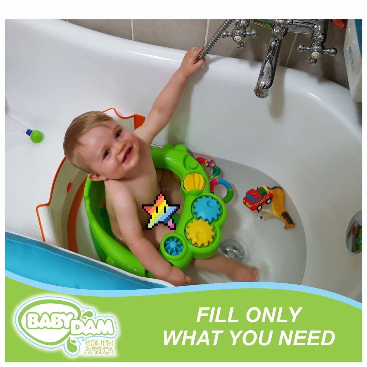 BabyDam Bath Divider   Grey