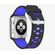 Silicone 38mm Sport Band for Apple Watch - Black & Blue