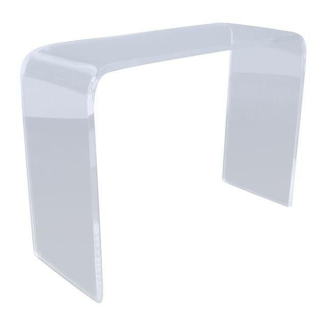 Modern Casa Clear Thick Acrylic Waterfall Table ...