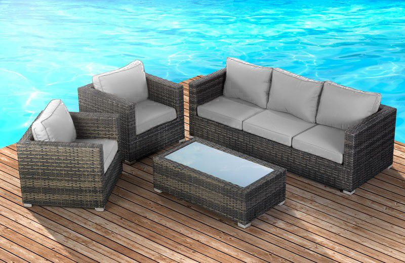 ... Cielo   Montae Patio Lounge Set Of 4   Brown