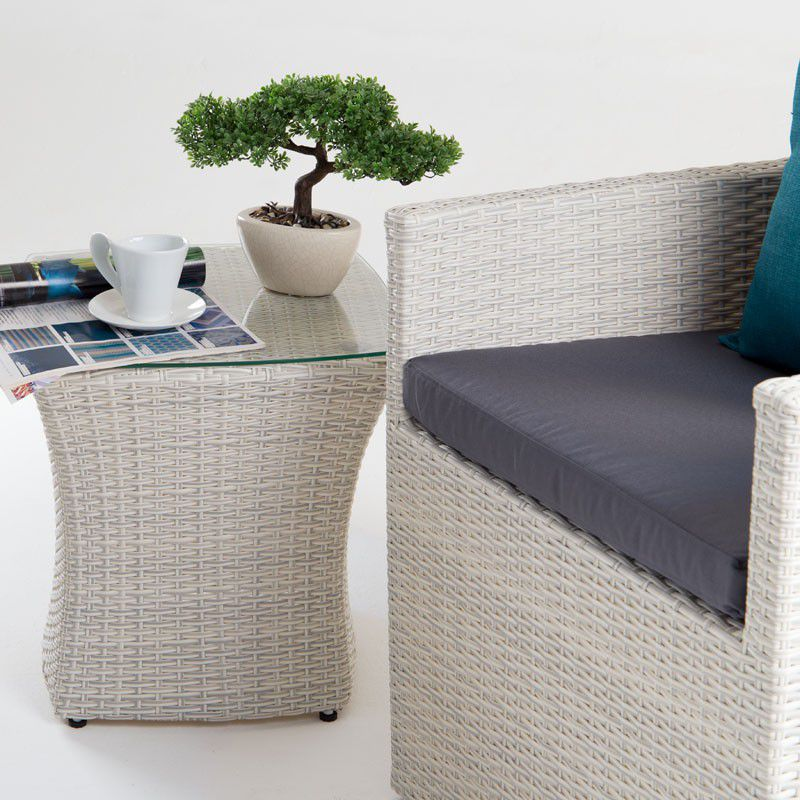 ... Cielo   Elora Patio Lounge Set   White