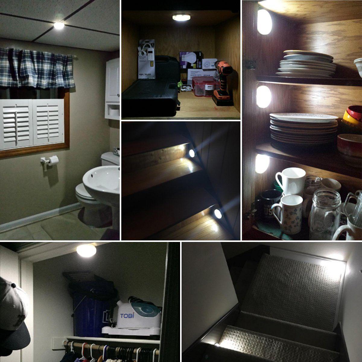 lighting for closet. LED Stick On Closet Lights With Motion Sensor - 3 Pack Lighting For