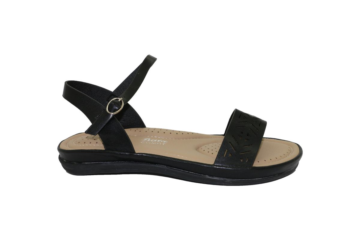 Bata sandal with fabric upper and wedge rope with fabric insert, wedge  height 11 cm
