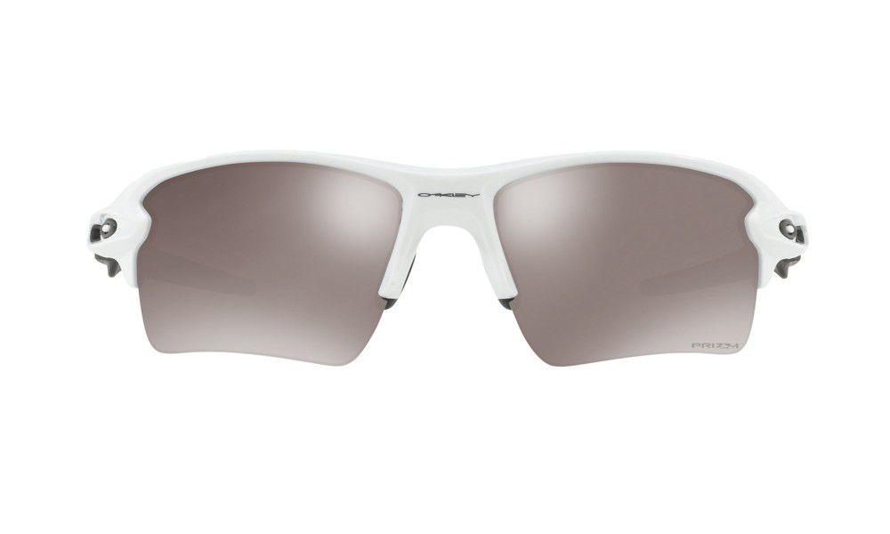 Oakley Herren Sonnenbrille Flak 2.0 Xl 918881, Weiß (Polished White/Prizmblackpolarized), 59