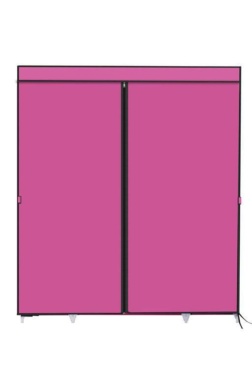 ... Hazlo Large Fabric Wardrobe Closet   Pink