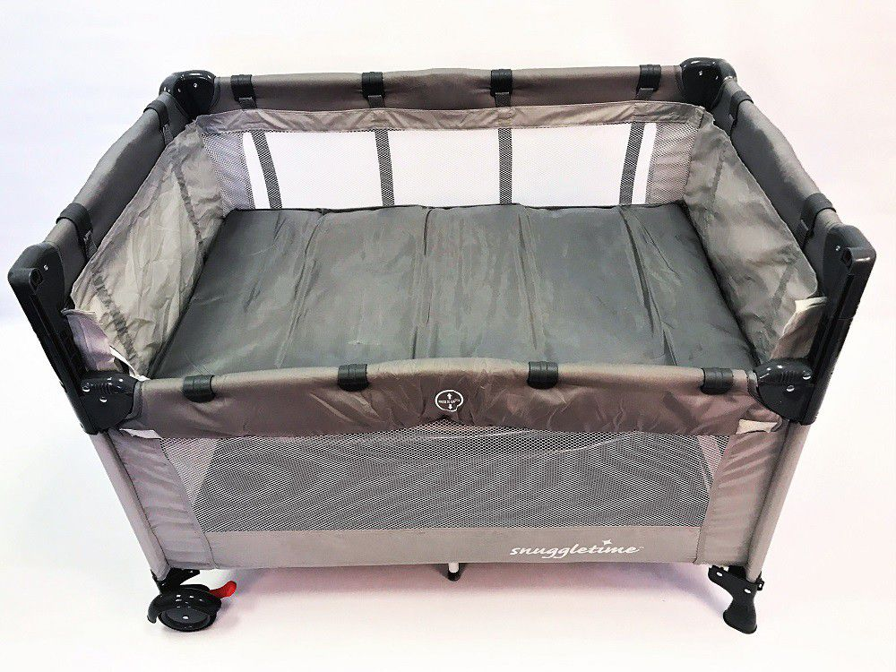 Snuggletime co sleeper camp cot grey buy online in south snuggletime co sleeper camp cot grey fandeluxe Images