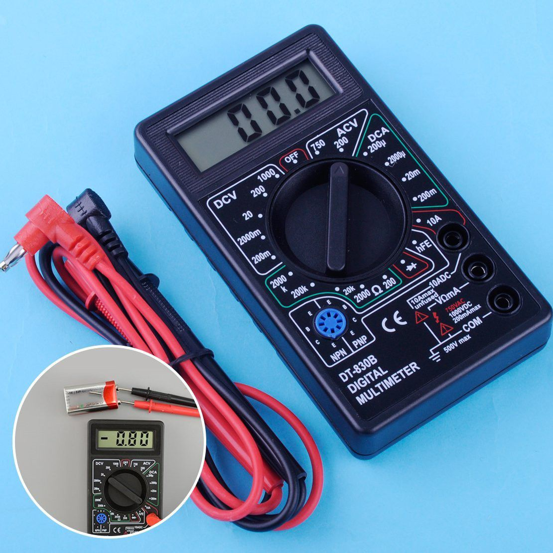 Lcd Digital Multimeter Voltmeter Ammeter Ohm Volt Ac Dc Multimeter ...