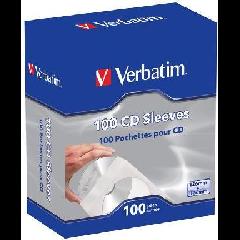 Verbatim Paper CD Sleeves - 100 Pack