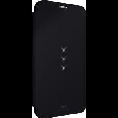 Samsung Galaxy S5 White Diamond Crystal Booklet - Black