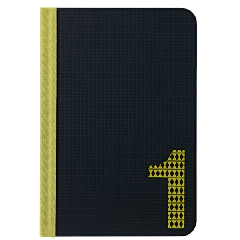 Ozaki iPad Mini Code Number 1 Folio - Black & Yellow
