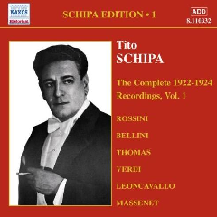 Tito Schipa - Complete Victor Recordings - Vol.1 (CD)