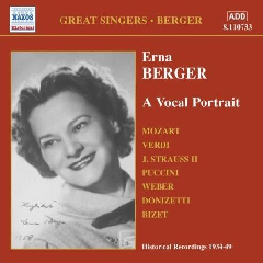 Mozart/Auber/Flotow/Verdi - Vocal Portrait;Erna Berger (CD)