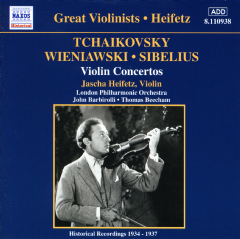 Heifetz Violin Ctos - Tchaikovsky/Wieniawski/Sibelius (CD)