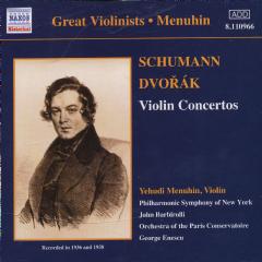 Schumann/Dvorak - Violin Concertos;Yehudi Menuhin (CD)