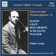 Pablo Casals - Encores And Transcriptions - Vol.4 (CD)