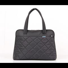 """Kingsons 15.4"""" Black Shoulder Laptop Bag - Ladies In Fashion"""