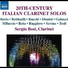Bosi, Sergio - 20th Century Italian Clarinet Solos (CD)