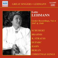 Lehmann: Lieder Recordings - Lieder Recordings - Vol.6 1947, 1949 (CD)