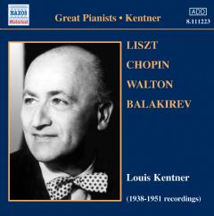 Various Kentner - Liszt Chopin Walton (CD)