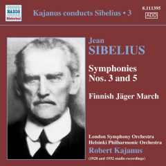 London So / Helsinki Po / Robert Kajanus - Kajanus Conducts Sibelius - Vol.3: Symphonies Nos. 3 & 5 / Jaakarien Marssi / (j (CD)
