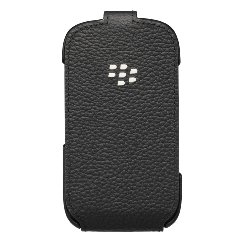 BlackBerry Leather Flip Shell - Black